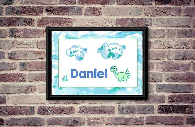 Etsy brick Daniel name sign