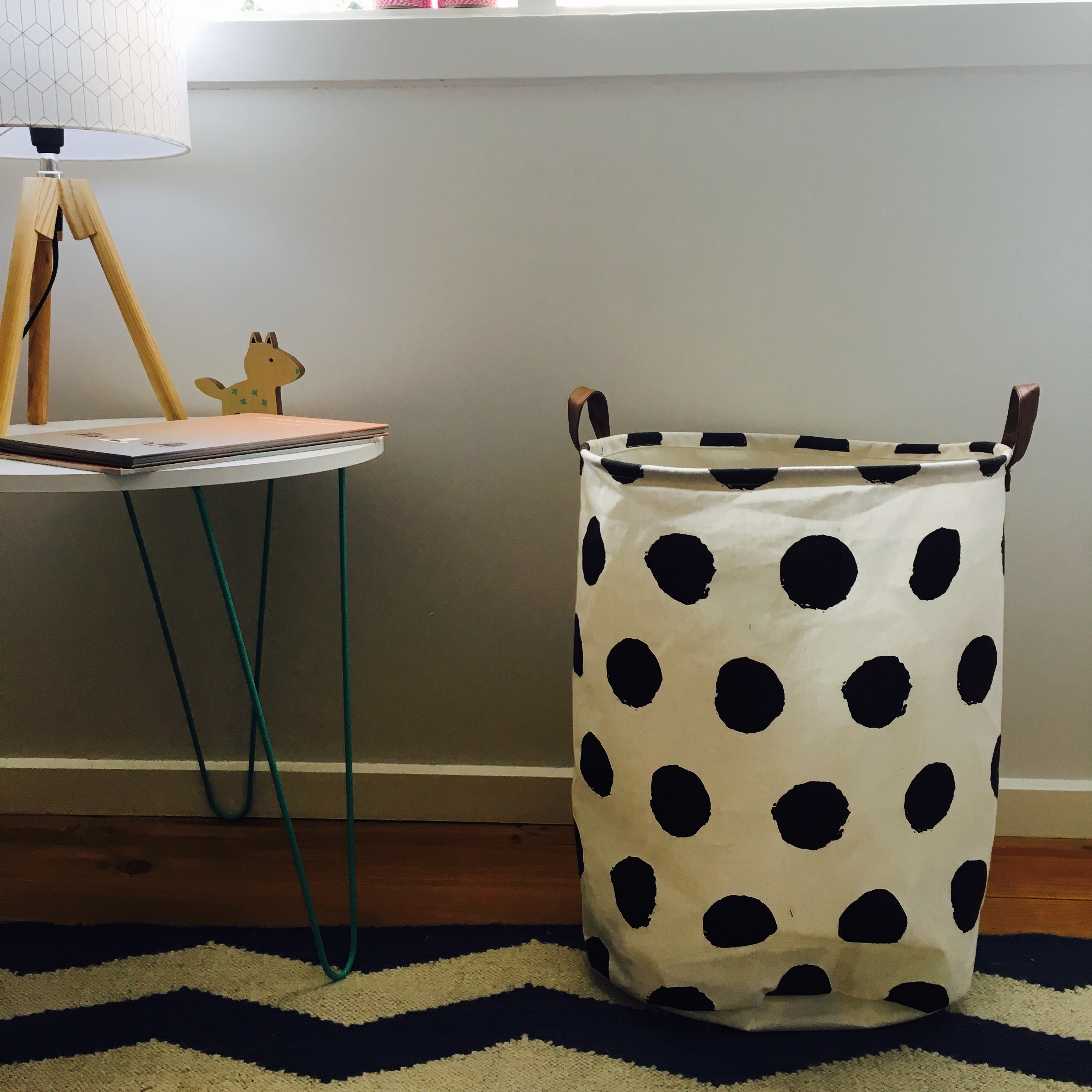 spotted canvas sack