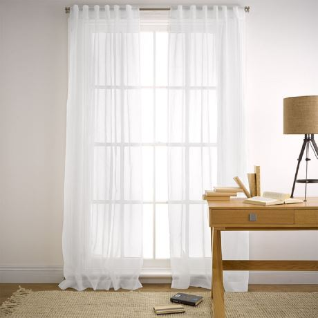 Image of soft white sheer blinds