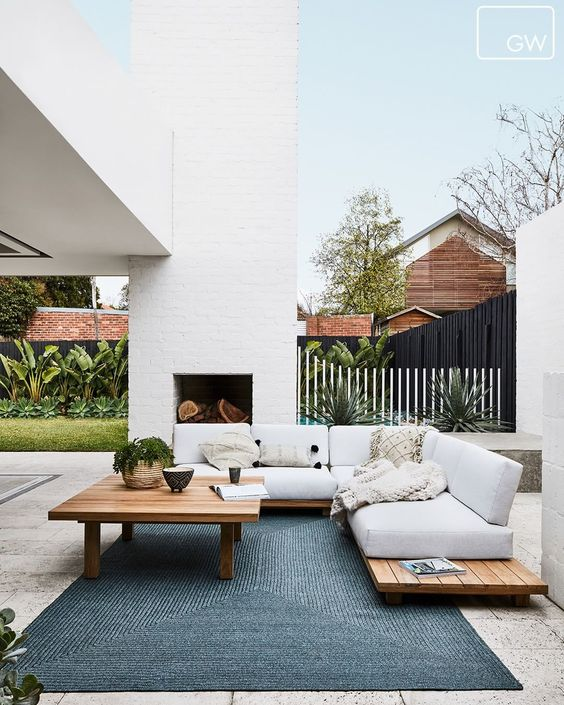 Outdoor space with outdoor furniture