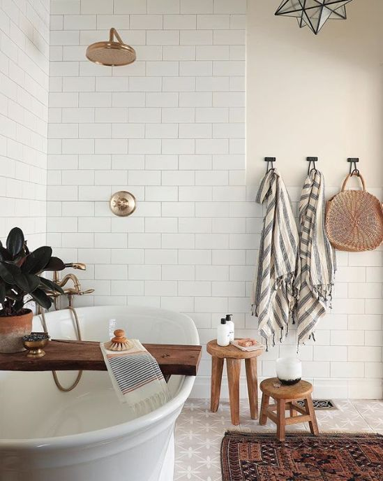 Turkish Interior Style - turkish towels in a bathroom