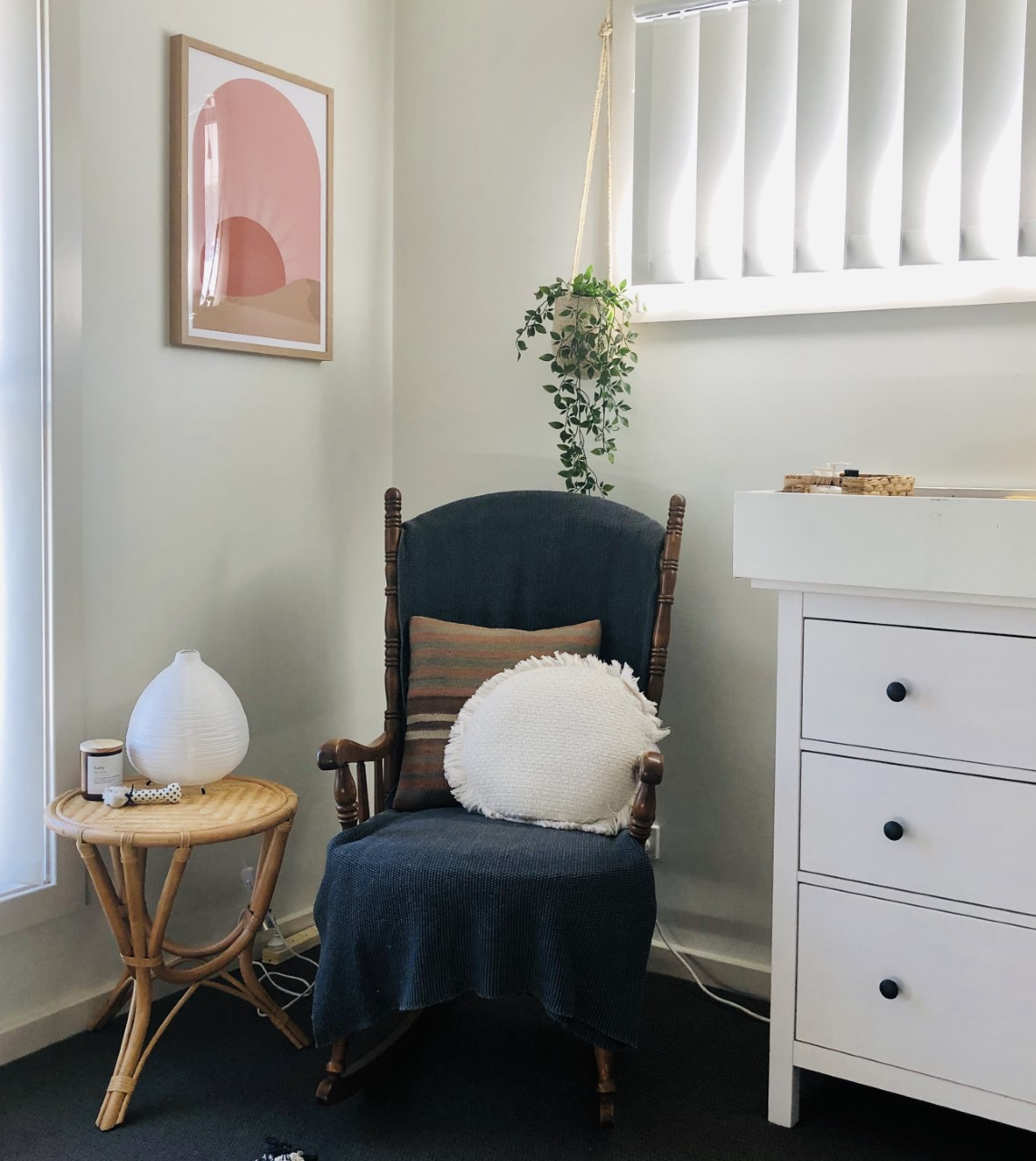 Nursery chair and side table