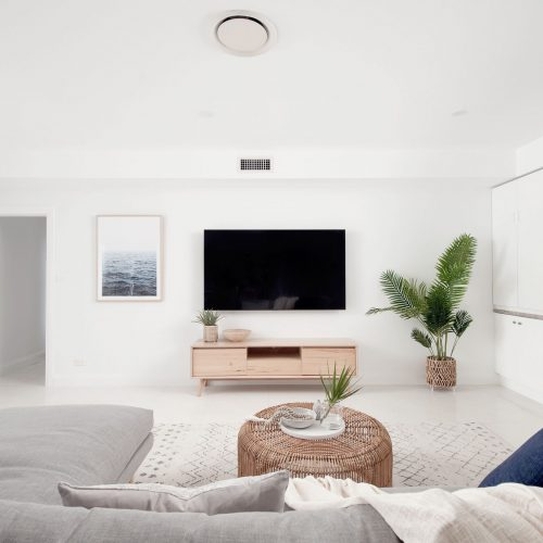 living area front on